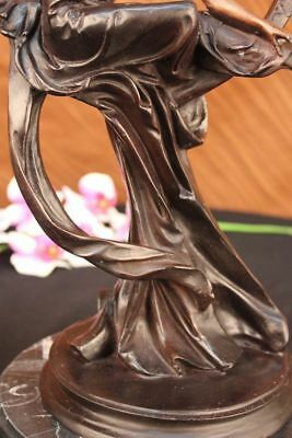 Elegant Nude Goddess of Love Beauty Prosperity Venus Moon Bronze Marble Statue