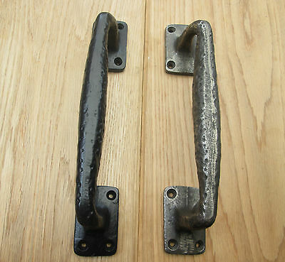 Cast Iron Vintage Old Style Decorative Fancy Heavy Gate Door Barn Pull Handles