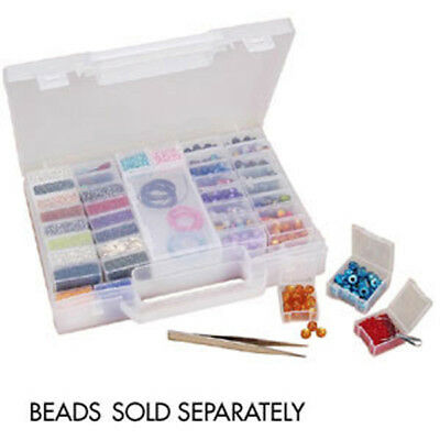 Bead Organizer Carry Case - 52 removable compartments for beads & Findings