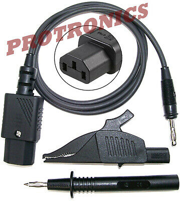 LEAD - IEC ALLIGATOR CLIP & PROBE Earth Return Lead, Test & Tag Appliance Tester