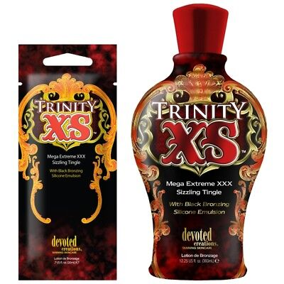 Devoted Creations Trinity XS Tingle Sunbed Tanning Lotion Cream SACHET OR BOTTLE