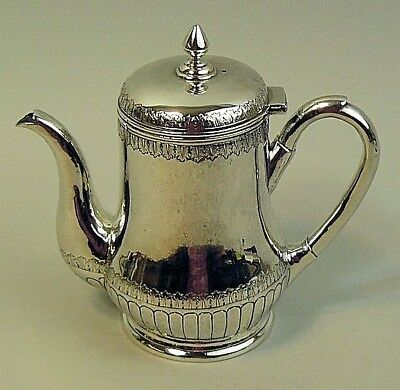 Antique Chinese Fine Silver Teapot By Hung Chong Canton & Changhai With Crest
