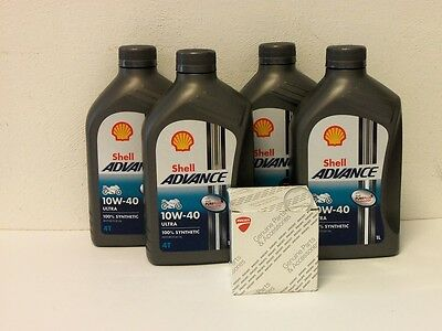 Shell Advance Ultra 4T 10W-40 / Original Ölfilter Ducati 748 749 750 alle