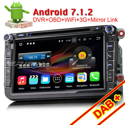 Autoradio GPS Android 5.1 DAB+TNT-IN 3G WiFi For Touareg Transporter Multivan T5