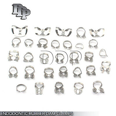 30 ENDODONTIC RUBBER DAM CLAMP Dental Instruments ( 30 Different Kinds NEW)