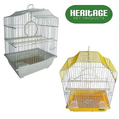 HERITAGE CAGES CORFE BUDGIE FINCH BIRD CAGE 30x23x39CM BUDGIES CANARY HOME PET