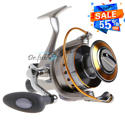 YOSHIKAWA Large Spinning Reel Baitfeeder Saltwater Fishing Big Spool 6000 5.5:1