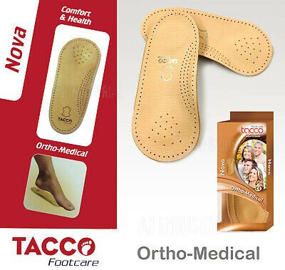ORTHOPEDIC MEDICAL ARCH SUPPORTS Leather Insoles Men / Women - All Sizes