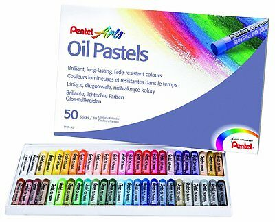 Oil Pastels by Pentel Artist's Pastels - Pack of 50 vivid colours