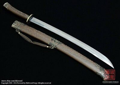 Hand Forged FOLDED STEEL Chinese Kung fu Wushu Qing Dao Sword hand sharpened
