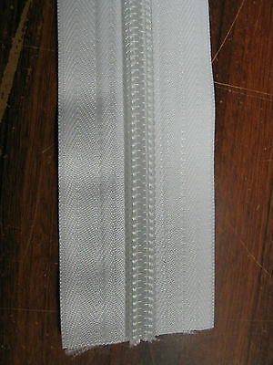 No 10 WHITE Heavy duty continuous coil Tent zip, Sewing, Camping, Price per 1m
