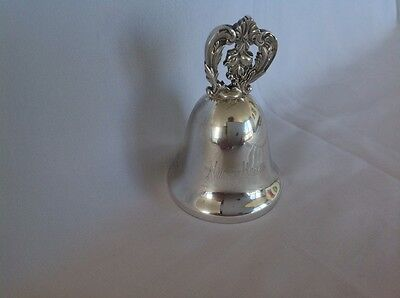 """CHRISTMAS NEIMAN MARCUS SILVER PLATE 1994 MUSICAL BELL  """"Oh Christmas Tree"""""""