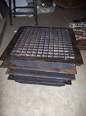 4 available massive heavy heating grates simple squares design (G 121)