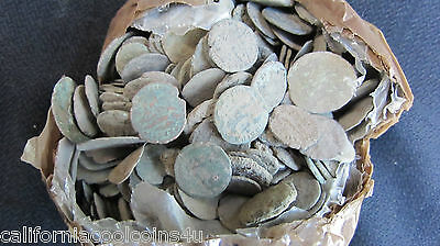 5- GOOD QUALITY- ANCIENT DIRTY UNCLEANED ROMAN COINS APROX 150BC-450AD-Fun Hobby