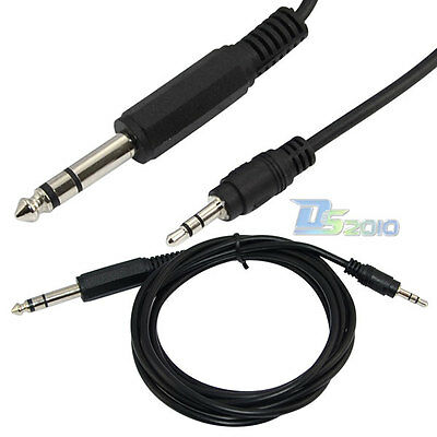 """6Ft 1.8m 1/4"""" 6.35mm TRS stereo male to 1/8"""" 3.5mm male plug Aux cable Cord Char"""