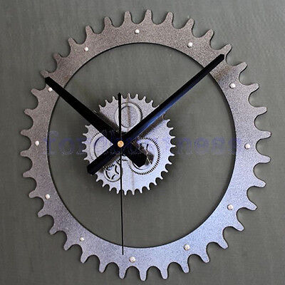 Creative Metallic Europea Gear Wall Clocks Home Decor Retro Watches Unique Gift