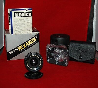 Konica Hexanon AR 28mm F3.5 Wide Angle Lens New in Box