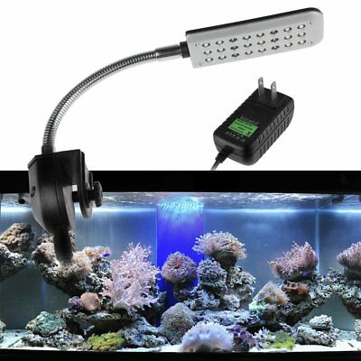 24/48 LED Ampoule Lampe Aquarium Light Clip On Overhead Fish Tank Lumiere Bulb