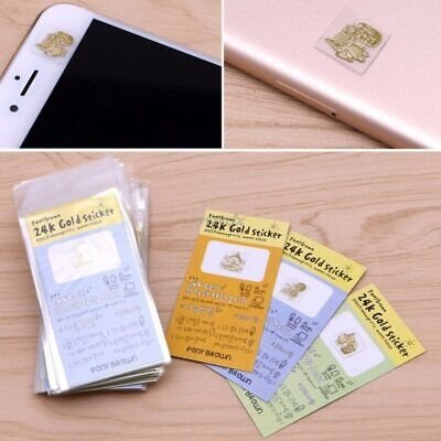10X 24K Gold Anti Radiation Sticker For Mobile Phone Pc Tablet Lcd Mp3 Pda Etc