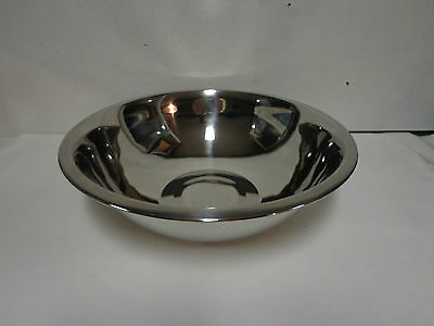 "New Browne-Halco S 776 Stainless Steel Mixing Bowl 6 Qt Food Service 12.5"" Dia."