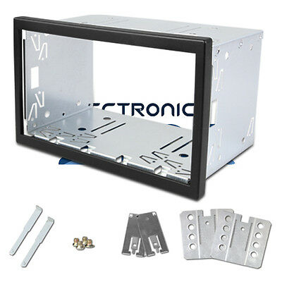 Double 2 Din Stereo Radio Headunit Universal Cage fitting Installation Key 113mm