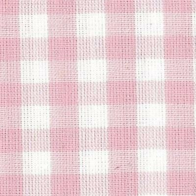 Nutex Patchwork Fabric Pink And White Checked - 76870