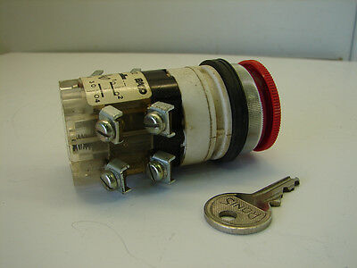 Baco Ac 422 Keyed Selector Switch (Keycode 1424A) **xlnt**