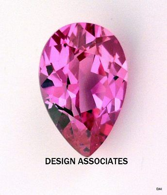 Man Made Pink Sapphire 9X6 Mm Pear Cut Aaa