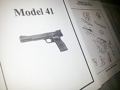Smith & Wesson Model 41 .22 Pistol Parts Diagram w/ Part Numbers & Price List