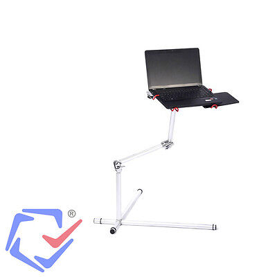 "Stable Aluminum Laptop Stand Mousepad Flexible Height 360 Rotation 7"" 17"""