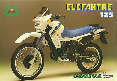 Cagiva Elefantre 125 Sales Sheet (Italian)