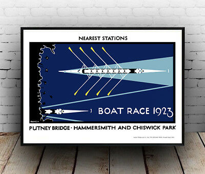 Boat Race 1923 - Old Vintage Travel Poster Reproduction, Wall Art