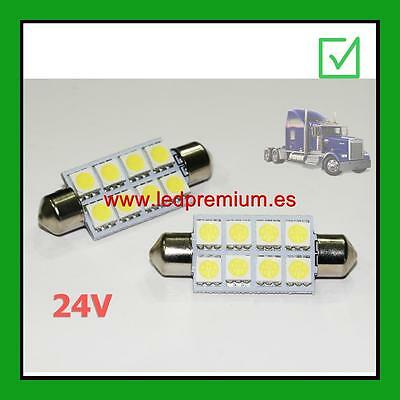 2x C5W 24V 41MM WHITE 6000K LED LAMP LORRY TRUCK CAMION