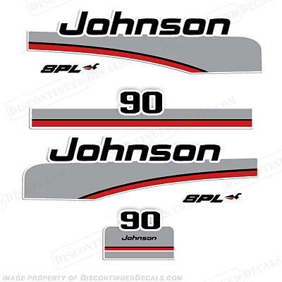 Discontinued Decal Reproductions in Stock! Johnson 1975 4hp Outboard Decal Kit
