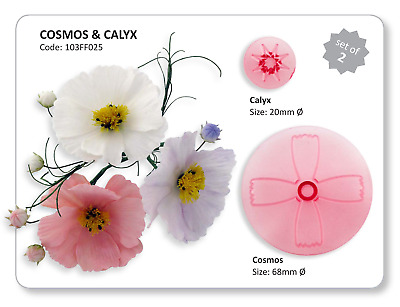 JEM 2 Set COSMOS & CALYX Flower Icing Cut Out Cutters Sugarcraft Cake Decorating