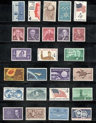 US Postage Stamps 5 Cent Collection Of 27 Stamps 50-55 Years Old SHIPS FREE V15