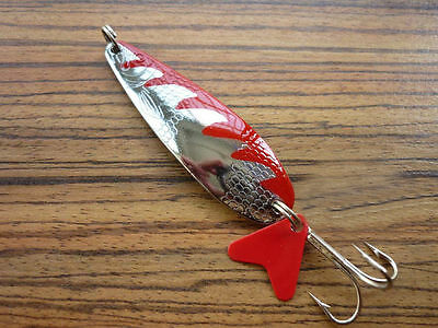 5PCS Fish fishing spoon hook lure scoop shape baits 12g 14g red silvery