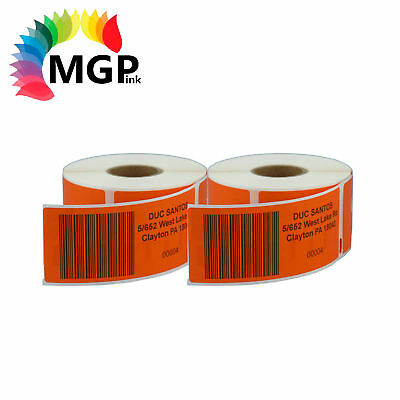 2 Compatible for Dymo/Seiko 99012 Orange Label 36mm x 89mm Labelwriter450 Turbo