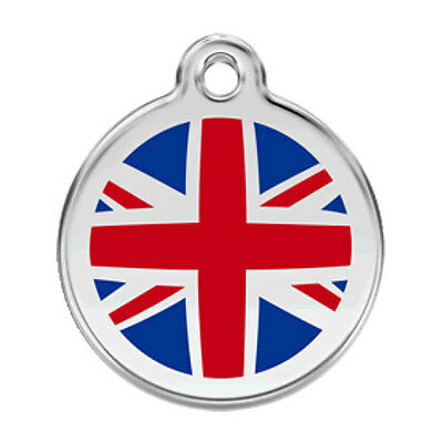 Union Jack  Engraved Dog / Cat ID identity Tags / discs by Red Dingo (1UK)