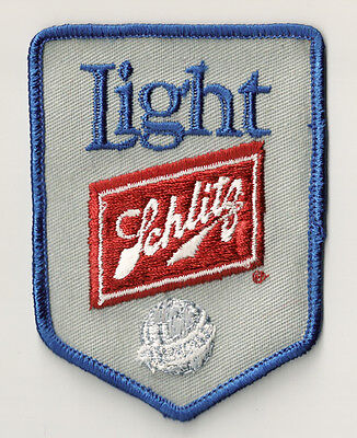 écusson brodé patch patche Vintage d'époque 80's USA Schlitz Light beer / PP-343