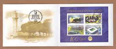 AC -  TURKEY - THE 100th ANNIVERSARY OF FENERBAHCE SPORTS CLUB DOUBLE STAMPED