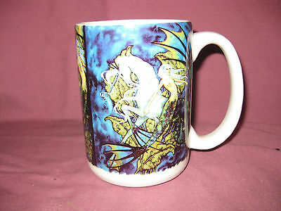 Amy Brown Fairy Coffee Mug Cup Nude Naked Sprite Pixie Snail Leaf Leaves Cuppa