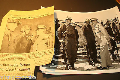 UNITED STATES MARINE CORPS. USMC 43RD INFANTRY CO. PHOTOGRAPHS OF GENERAL VISIT