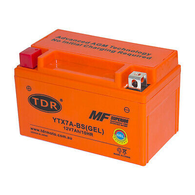 YTX7A-BS12v 7aH Motorbike GEL Battery ATV Quad Dirt/Pit Bike 110/125/150/200cc