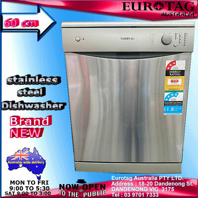 Eurotag W60A1A401F Freestanding Dishwasher Stainless Steel