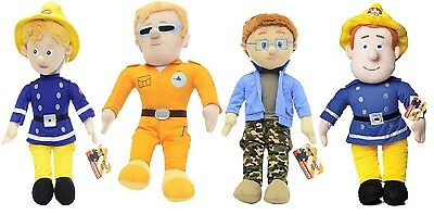 """New Official 17"""" Fireman Sam And Friends Plush Soft Toys"""