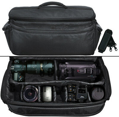 XL Camera / Camcorder Bag for Canon, Nikon, Pentax, Sony, Panasonic, JVC &More