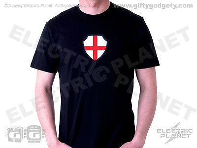 Grade A Wholesale Lot 40 Light-Up England St George Cross T-Shirts, Mixed Sizes