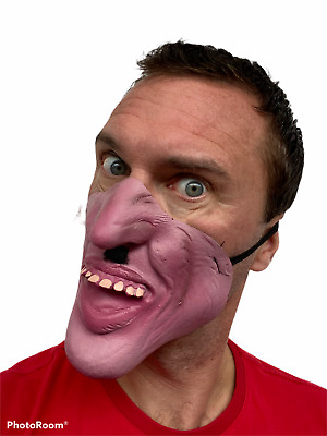 Funny Bruce Forsyth Half Face Mask Big Chin Fancy Dress Stag Strictly Cards