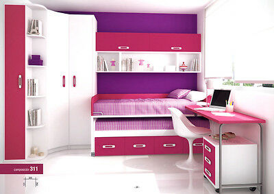 xxl kinderzimmer mit g stebett eckkleiderschrank. Black Bedroom Furniture Sets. Home Design Ideas
